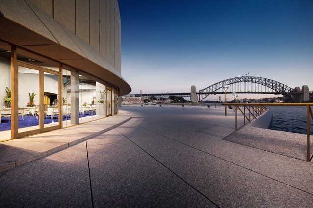 Designs for new Sydney Opera House function centre by Tonkin Zulaikha Greer.