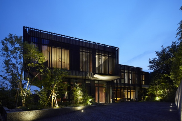 R Residence (2011) features a rooftop solar farm that generates most of the energy required by the house's residents.