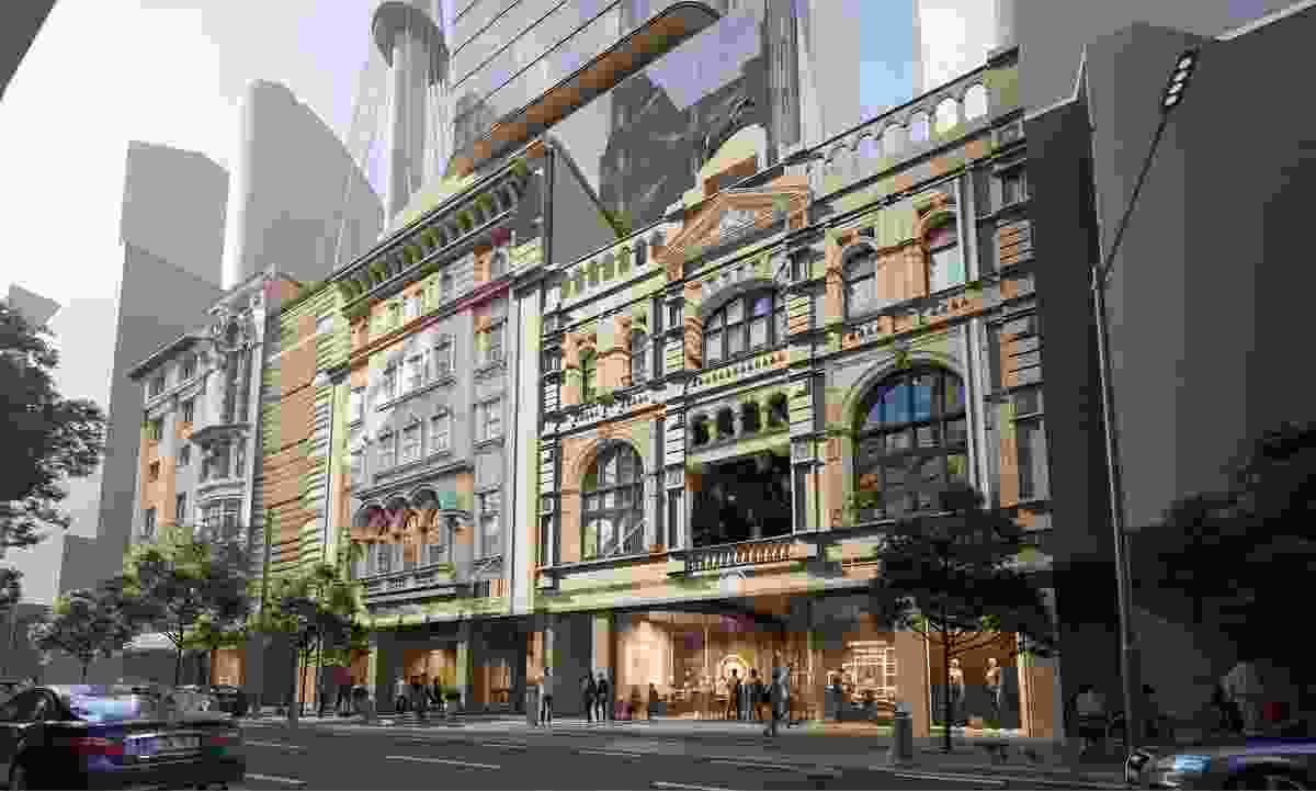 The redevelopment City Tattersalls Club will include the restoration and renewal of the historic building. (Indicative design by FJMT.)