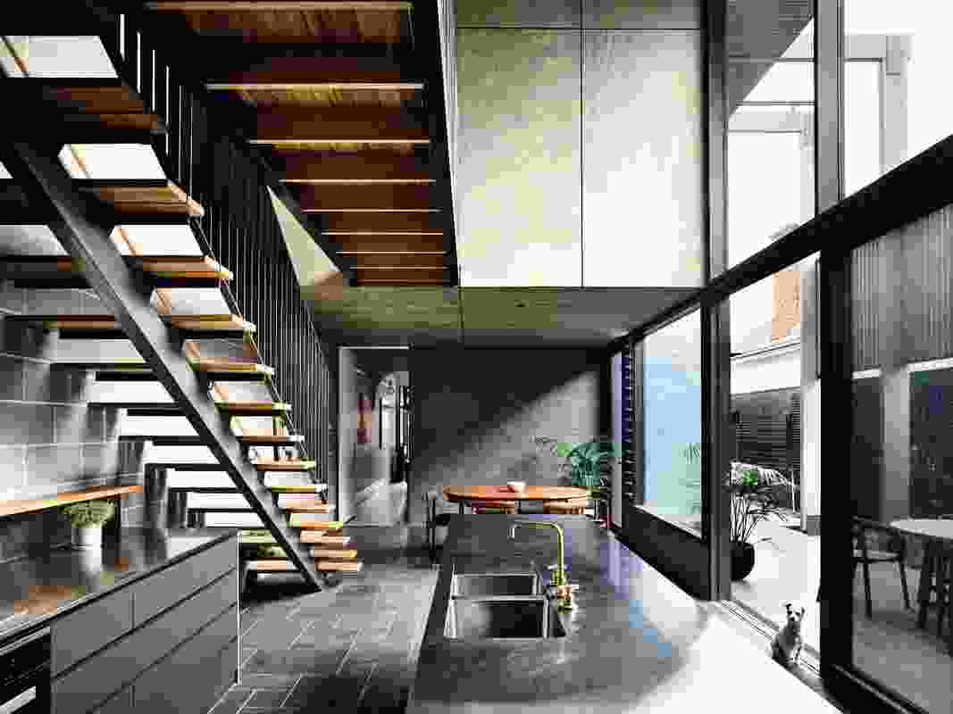 The architects have avoided domestic imagery, seeking instead to create a space akin to a garden pavilion.