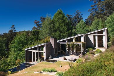 The house was designed in the aftermath of the 1967 bushfires.
