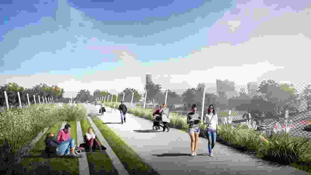 Mays Hill Masterplan by Tyrrell Studio in collaboration with Parramatta Park Trust.