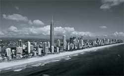 Q1 towering above surrounding buildings at Surfers Paradise.Image: Russell Shakespeare