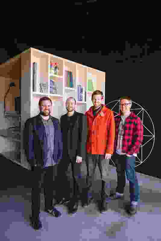 Nathan Crump, Aaron Roberts, Thomas Bailey & James Wilson of Room 11 Architects.