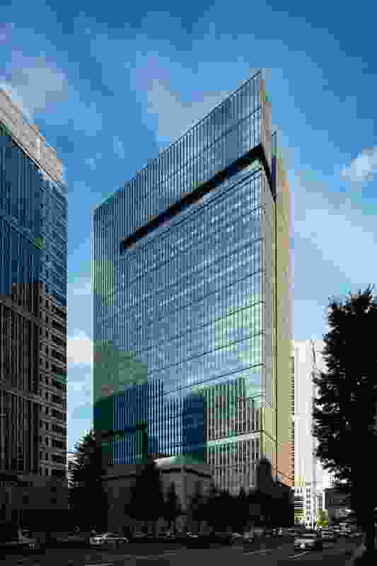 Kohn Pedersen Fox Associates designed the building's exterior envelope.