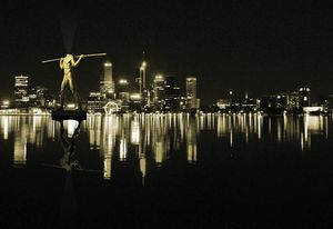 "Noongar academic Len Collard has suggested that former Perth mayor Lisa Scaffidi's idea for a ""statue of liberty for Perth Water"" should be Yagan (a Noongar warrior decapitated by white settlers) standing in the river with no head."