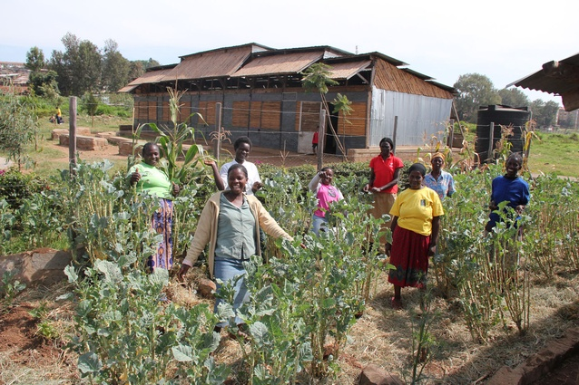 A community vegetable garden built with the help of KDI.