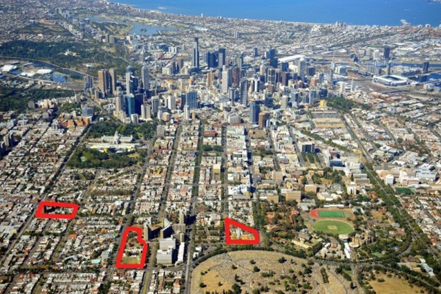 Carlton Housing Redevelopment project includes sites on the corner of Lygon and Rathdowne Streets,on Keppel and Cardigan Streets and a on Elgin and Nicholson Streets.