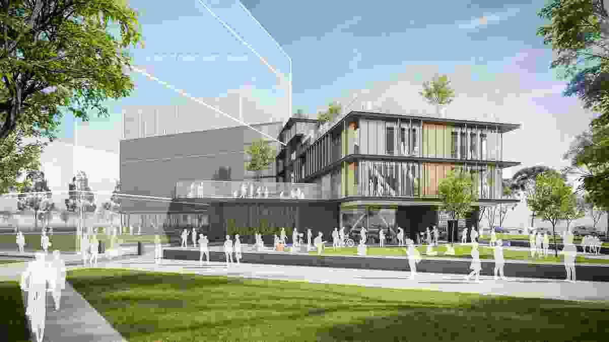Fitzroy Gasworks senior campus by GHD Woodhead and Grimshaw.