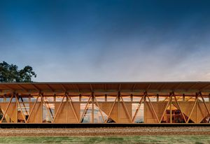 Constructed of predominantly prefabricated components, the Incubator meets a challenging brief fora building that was quick toconstruct, was easy to relocate inthe future and would allow flexibility of use.