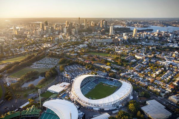Sydney Football Stadium by Cox Architecture, slated for demolition.