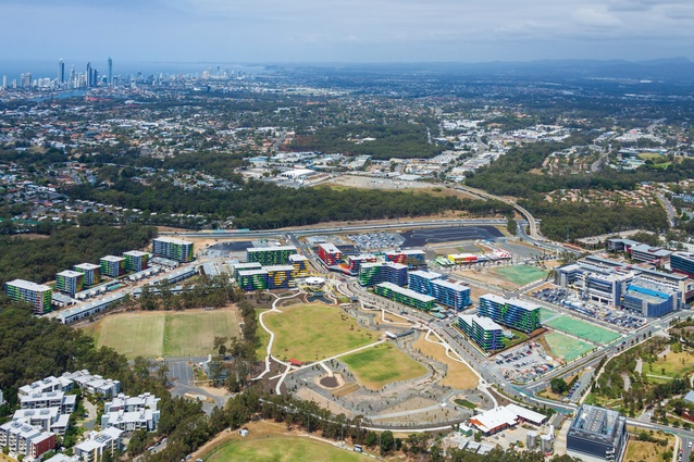 Located a few kilometres inland from Surfers Paradise, the precinct abuts Griffith University's Gold Coast Campus and Gold Coast Private Hospital.