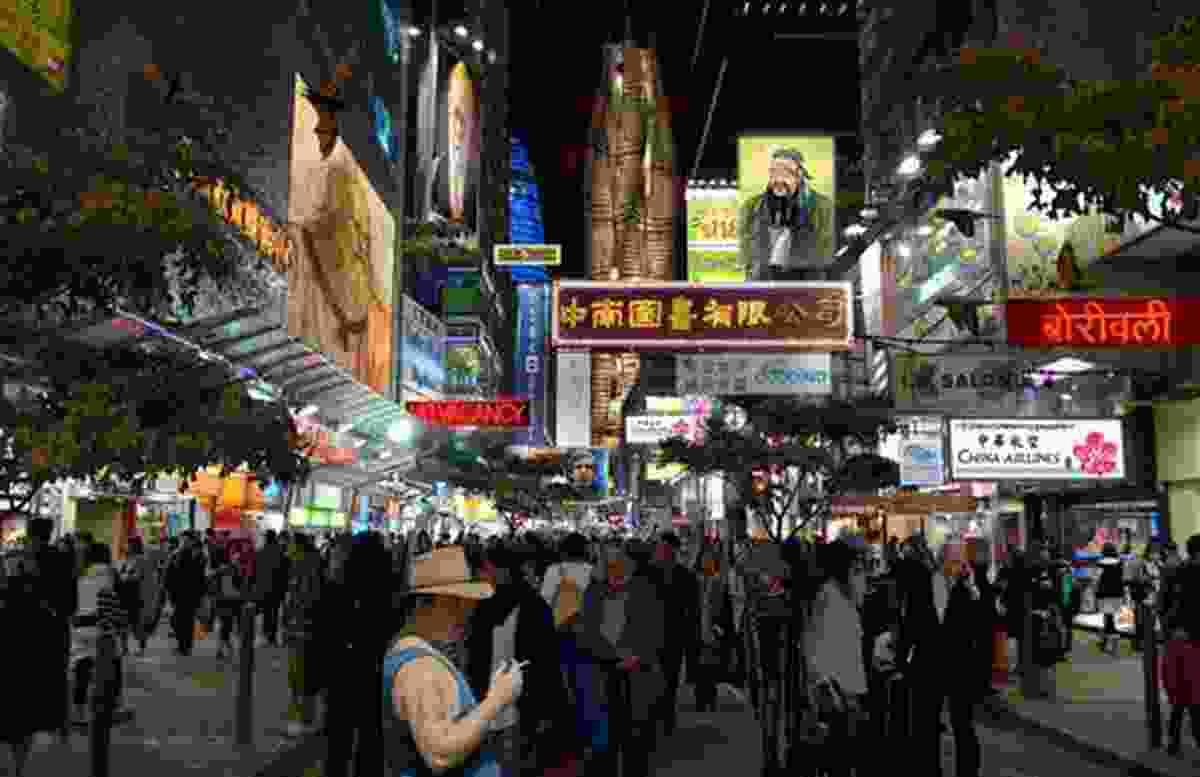 A visualisation of a Refuge City street scene.