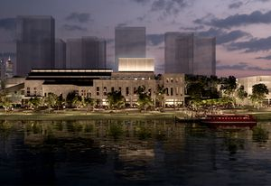 Concept design for the transformation of the former East Perth Power Station by Kerry Hill Architects.