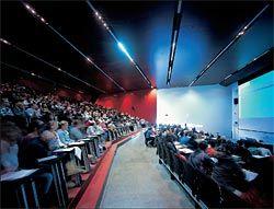 Interior of the lecture theatre.