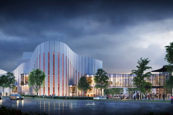 Western Sydney Performing Arts Centre by Cox Architecture.