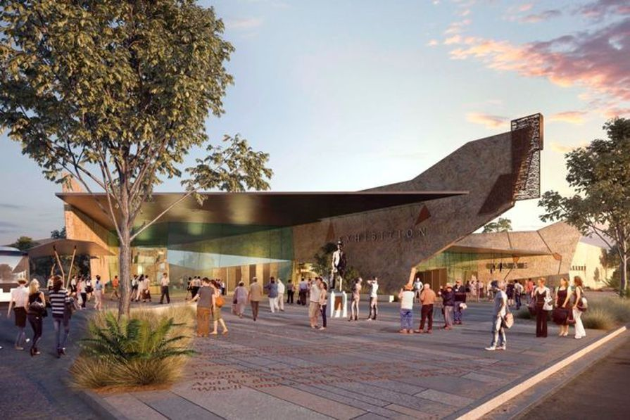 Cox Rayner's concept design for the new Waltzing Matilda Centre in Winton.