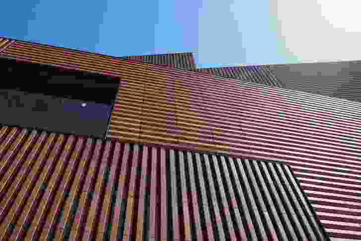 Facade of the Massana School of Arts by Estudio Carme Pinós.