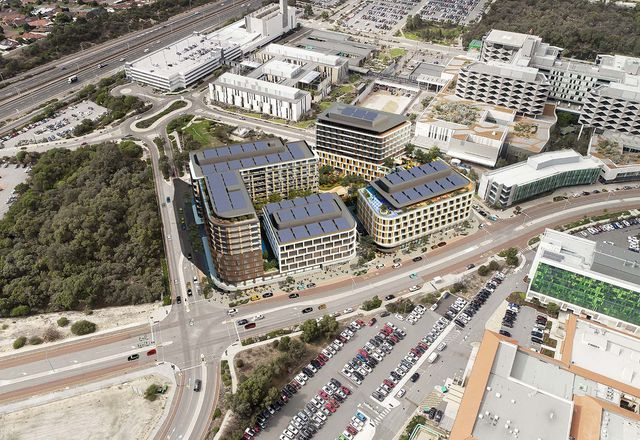 The Murdoch Health and Knowledge Precinct designed and masterplanned by Hassell.