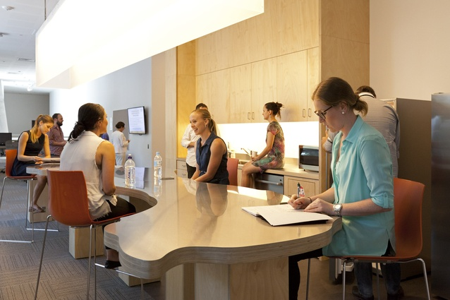 The convivial spaces of the building are designed to encourage students, staff, industry and community to share ideas.