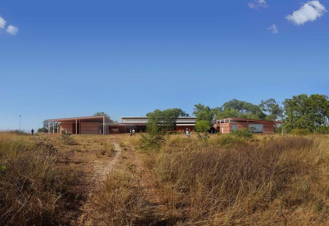 Northern view of the proposed Maningrida Arts and Culture Precinct.