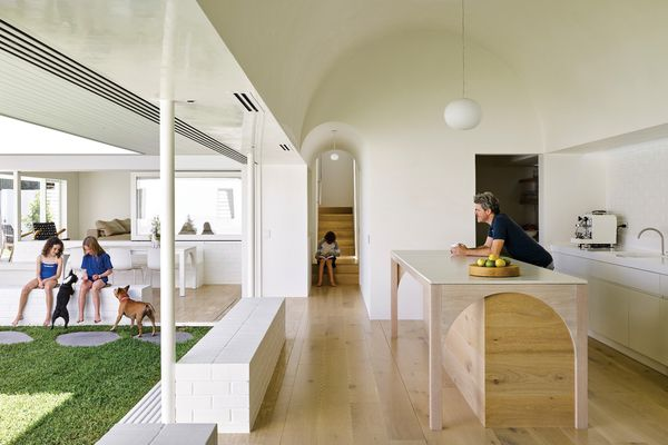 A new focus on the preparation, presentation and consumption of food in Australian culture can be read in tandem with the resurgence of the butler's pantry in residential design. At Hogg and Lamb's B&B Residence (2017) in Brisbane, the kitchen and its ancillary spaces are celebrated with a barrel-vaulted ceiling.