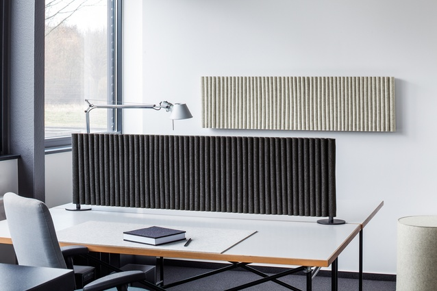 Wave desk divider by Hey-Sign.