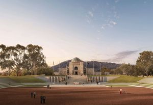 The parade ground an proposed new southern entrance designed by Scott Carver.