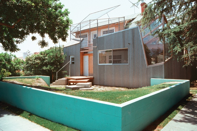 Frank Gehry's experimental, exploded bungalow in Santa Monica (1978/1991) is considered to be one of the first deconstructivist buildings.