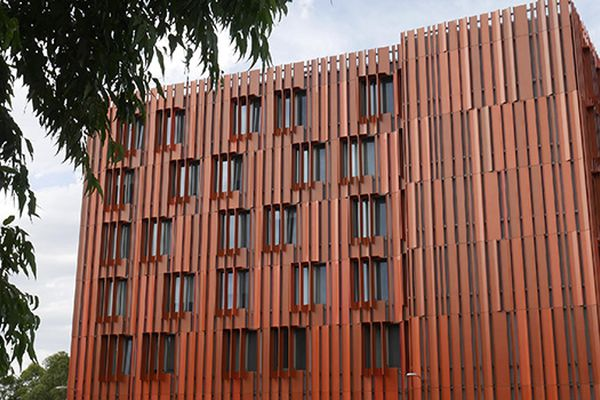 Monash University's Gillies Hall, designed by Jackson Clements Burrows.