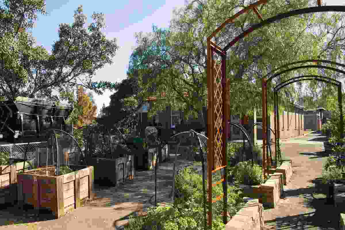 A community garden and nursery encourage visitors to the centre.