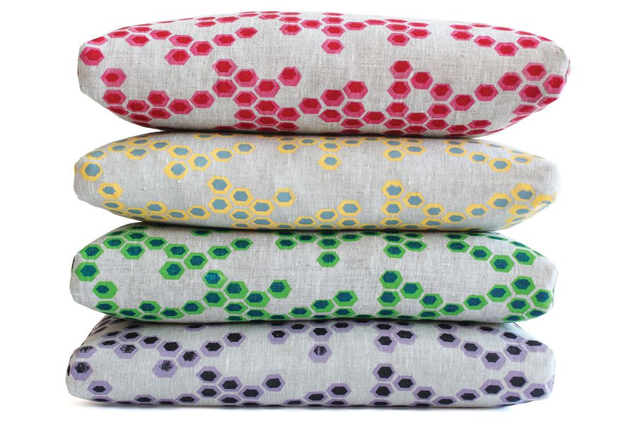 Reworked Hex cushions by Michelle Koop of Quince.