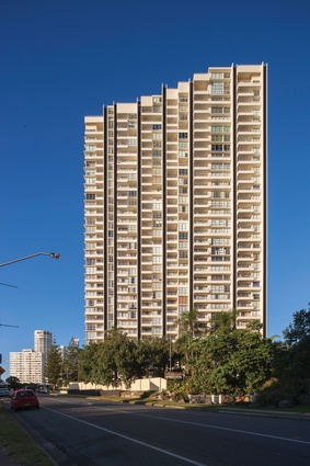 Golden Gate (1977) by Hayson Group Architects, Surfers Paradise.