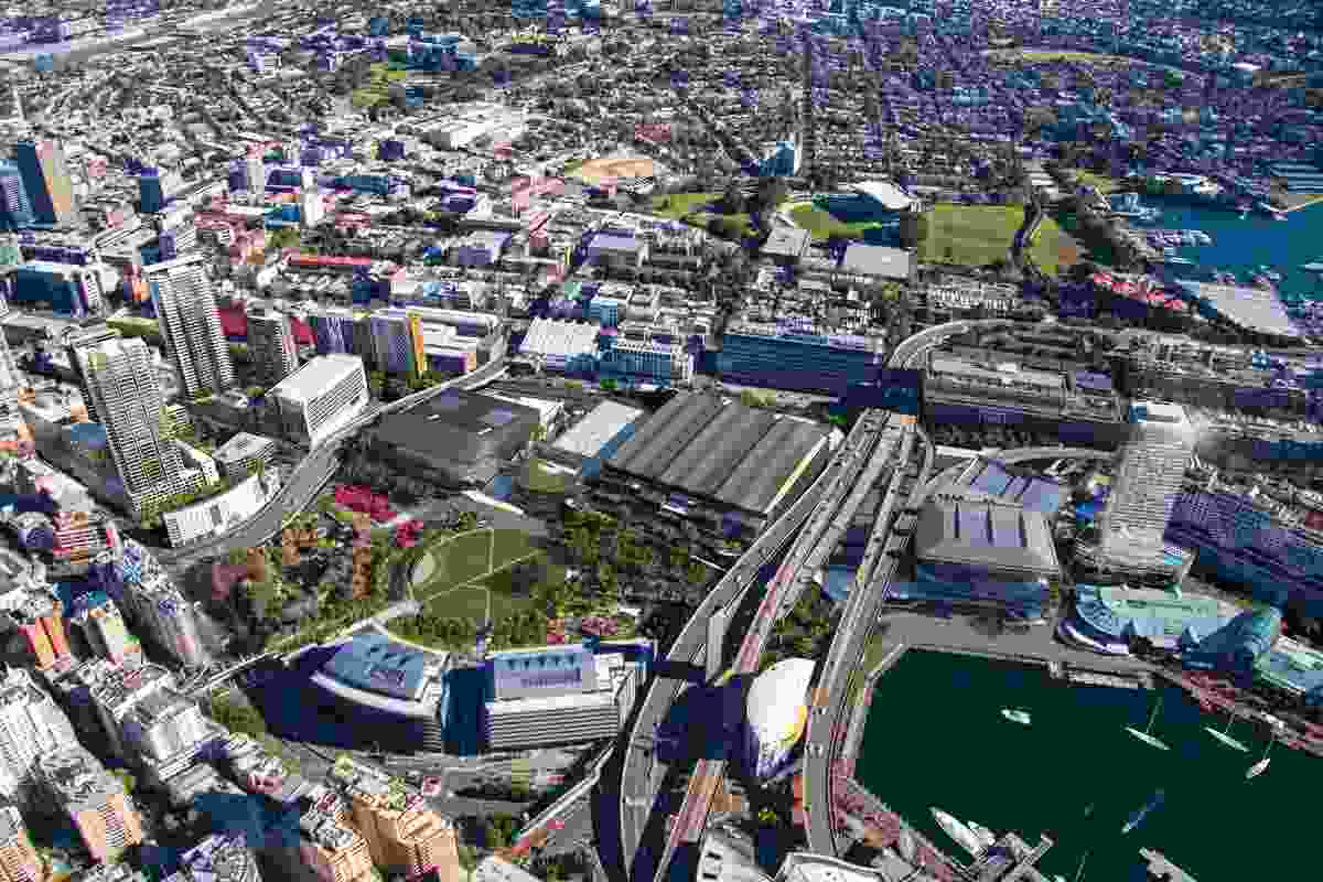 In the past, Darling Harbour has been cut off from the rest of the city. The new design for the area seeks to build new connections, introducing residential and standard detailing into the site.