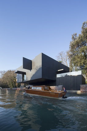 The design allows for the exterior to be transformed through adjustable panels.