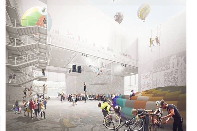 Anonymous finalist GH-5631681770. The design will include an internal 'street' that can be used all year round in Helsinki.