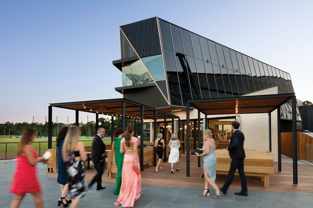 The Glasshouse (2015) provides Collingwood Football Club with administrative and training facilities as well as a generous public function venue.