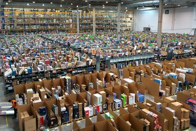 Amazon fulfilment centre in Madrid, Spain.