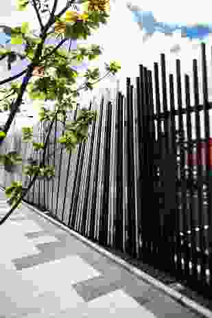 The long, fenced edge stands as the de facto gateway to the area.