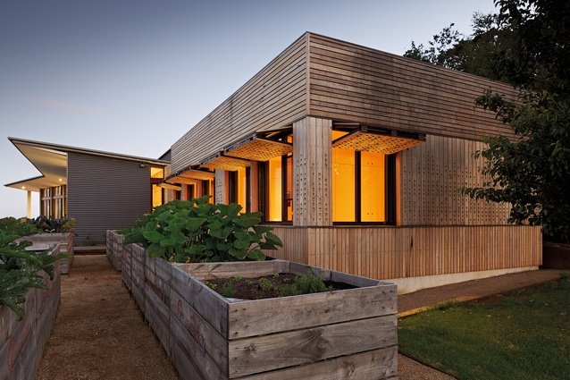 Mihaly Slocombe's Kids Pod, like any good cubby, is an obvious counterpoint to the house proper.