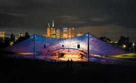 The refurbished Sidney Myer Music Bowl on opening night, October 2001. Image: John Gollings