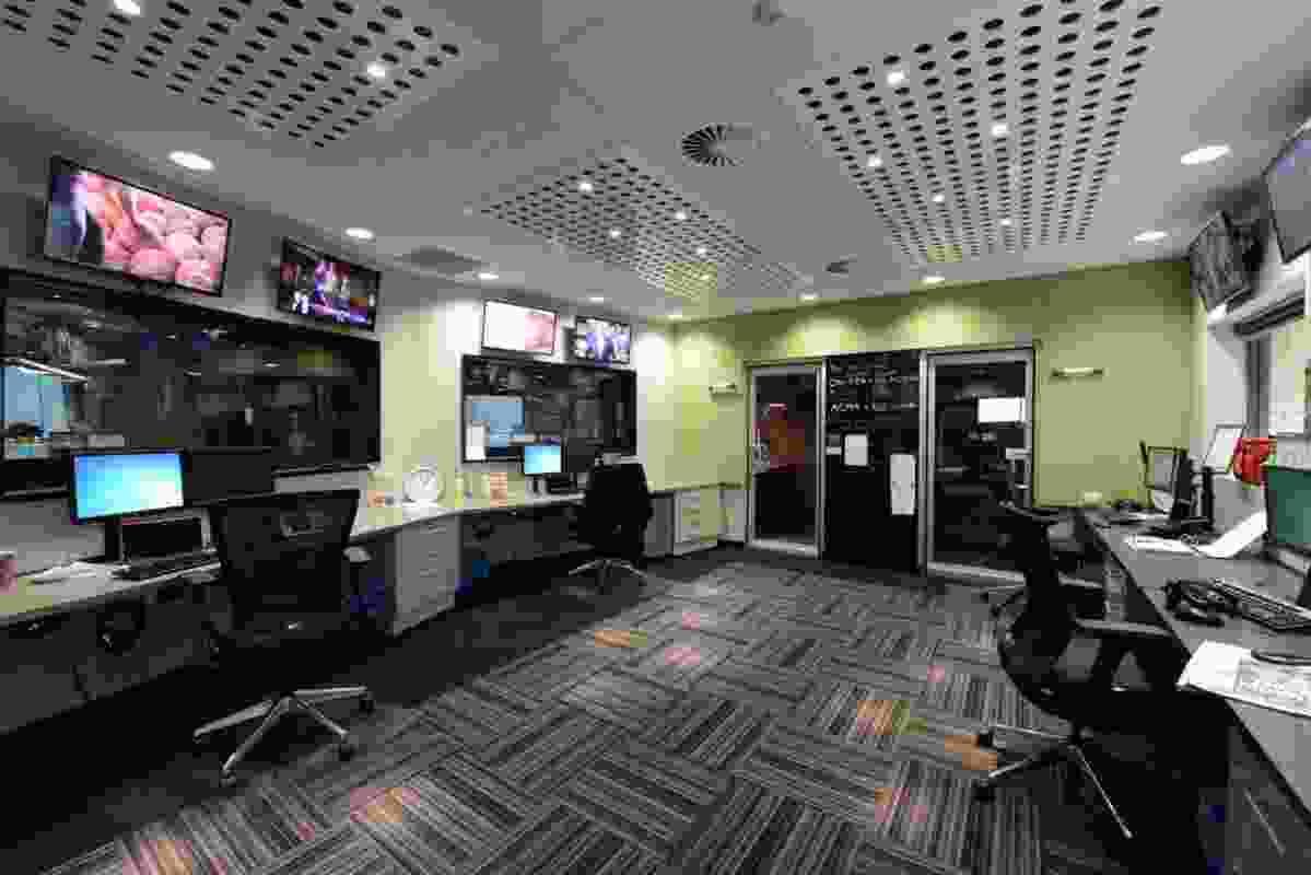 Interior Refurbishment Central Coast Radio Station Studios by McKendry Hunt Architects.