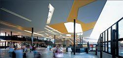 "The ""agora"", or atrium, a vibrant public space."