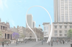 Junya Ishigami's redesigned 'grand arch' for Sydney doubles in size