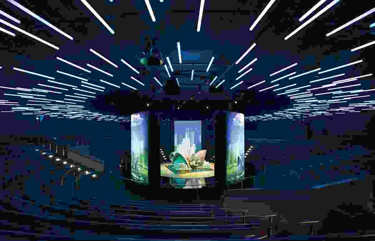 The second act, Discover, takes place in the ANZ Theatre, A 1000-seat theatre-in-the-round.