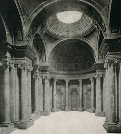 Vernon's vestibule in 1904. Originally published in the