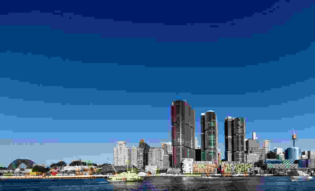 International Towers Sydney, Barangaroo South by Rogers Stirk Harbour and Partners with Lendlease Design.