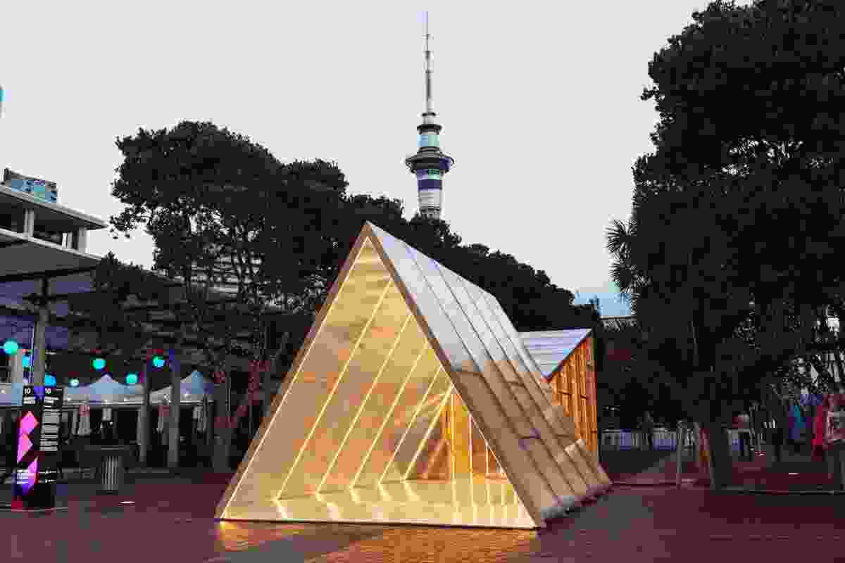 The installation was originally displayed as part of the Bright Nights Festival but will be making other appearances in Auckland and Palmerston North.