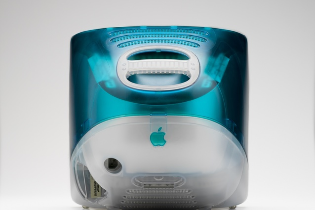 iMAC G3 Bondi Blue. Designed by Jonathan Ive, made by Apple, 1998.