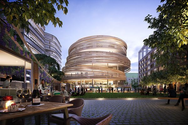 The Darling Exchange by Kengo Kuma and Associates and urban square by Aspect Studios.